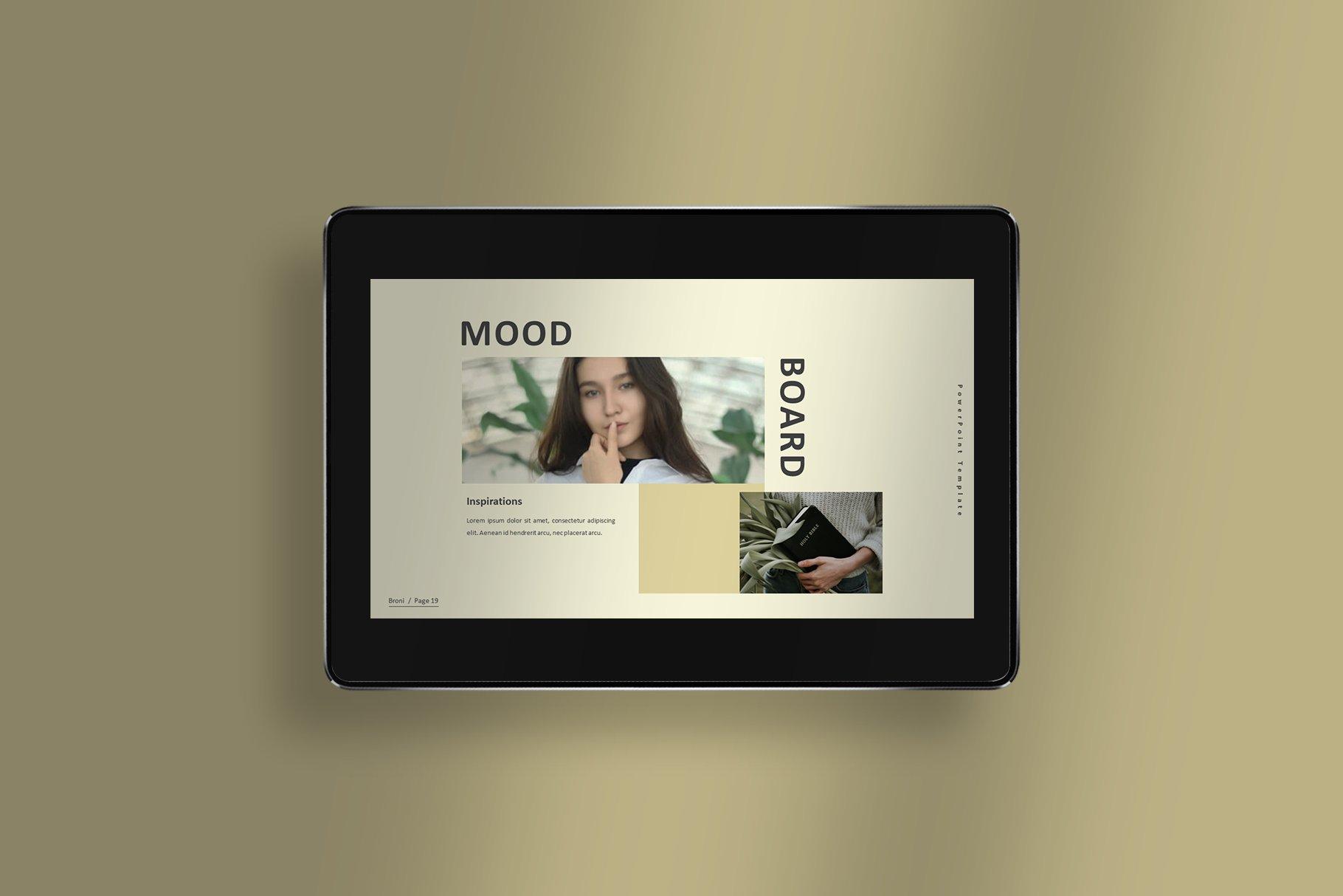 简洁服装摄影作品集图文排版设计PPT幻灯片模板 Broni – Minimalist Presentation插图(2)