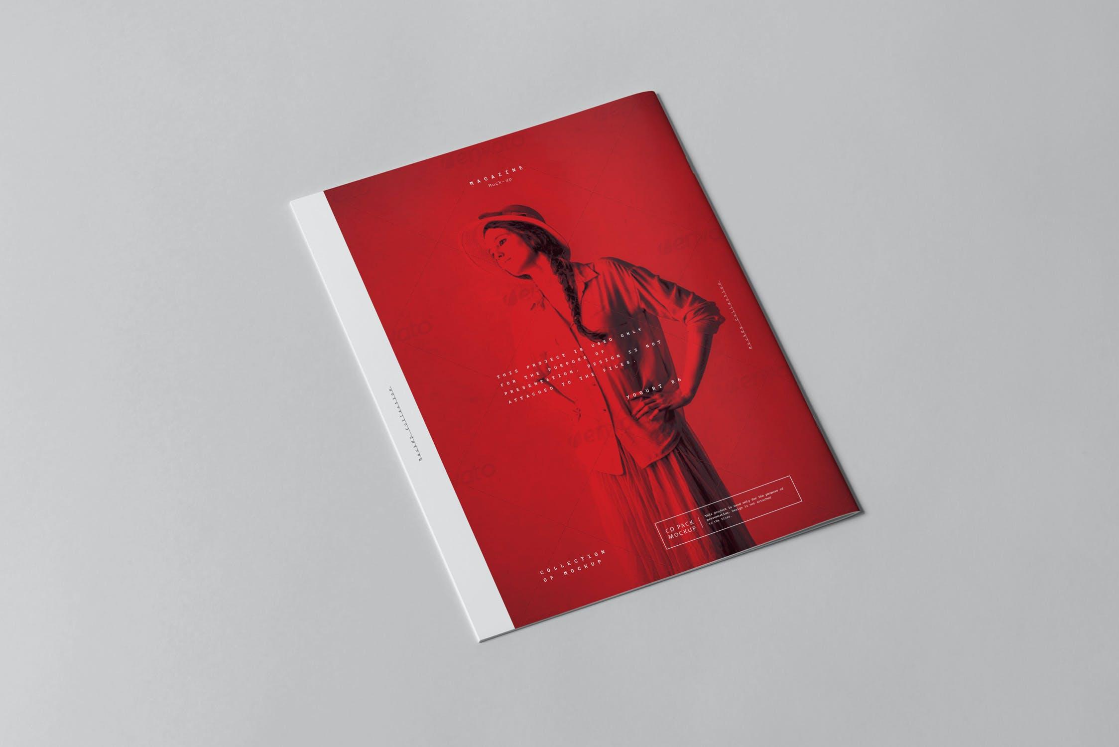 10款骑马钉宣传画册杂志设计展示样机模板 US Letter Brochure Mockup 3插图(2)
