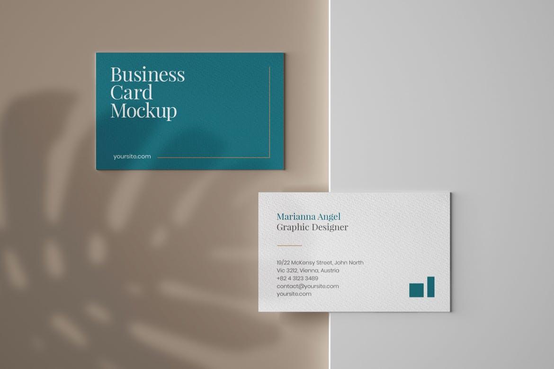 6款商务名片卡片设计展示样机 Elegant Business Card Mockup Set插图(2)