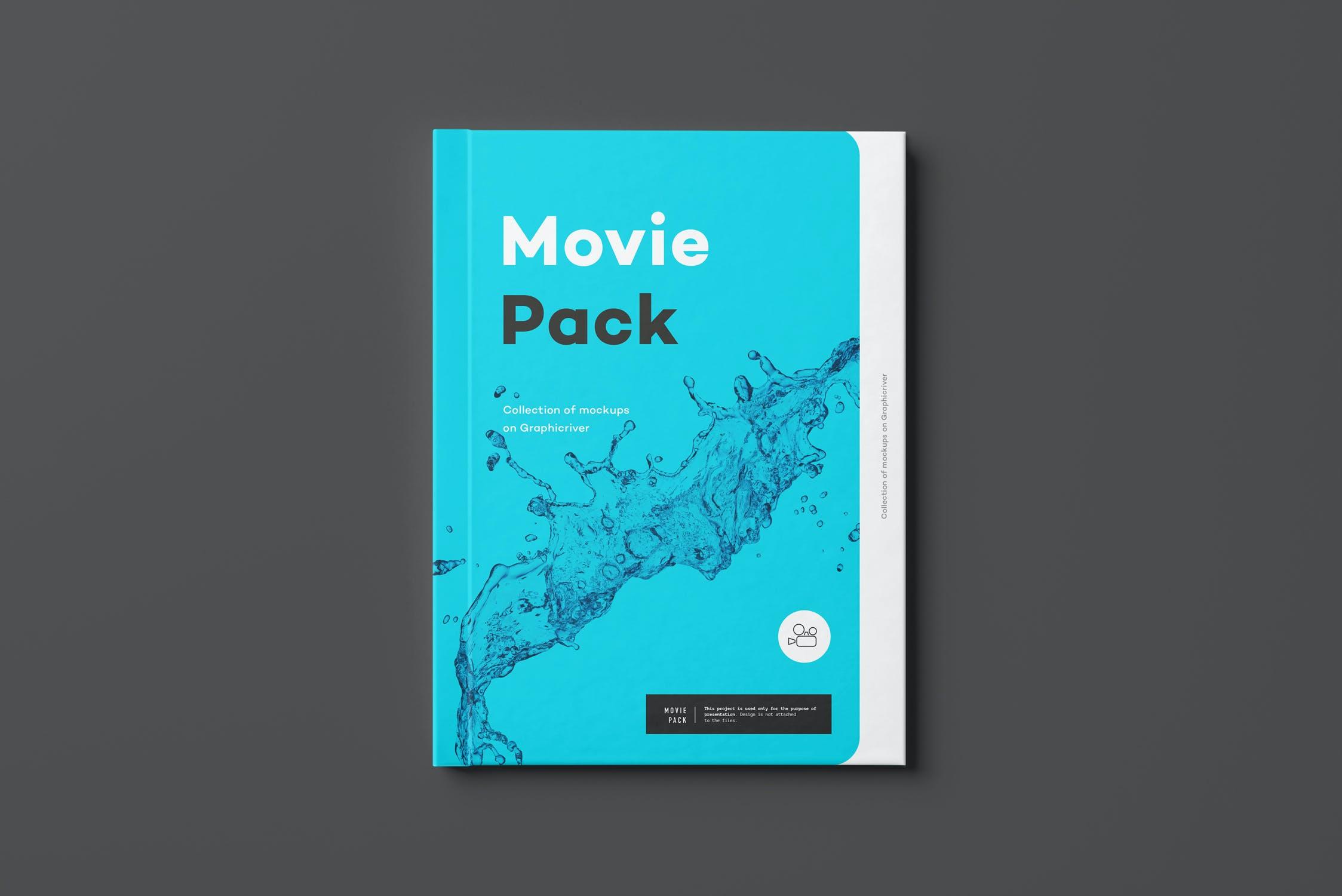 14款电影CD光盘包装纸盒设计展示样机 Movie Mockup 2插图(2)