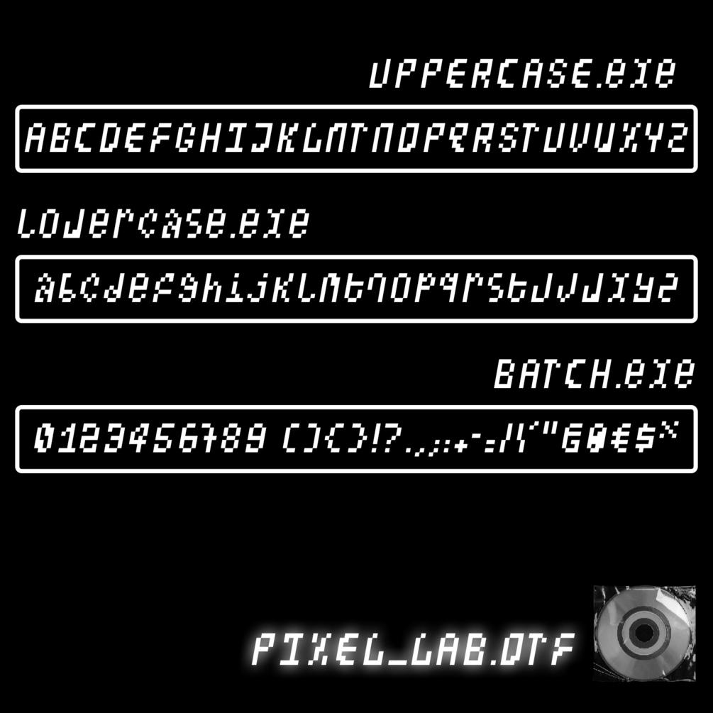 潮流像素点状装饰英文字体设计素材 Pixel Lab Typeface插图(2)