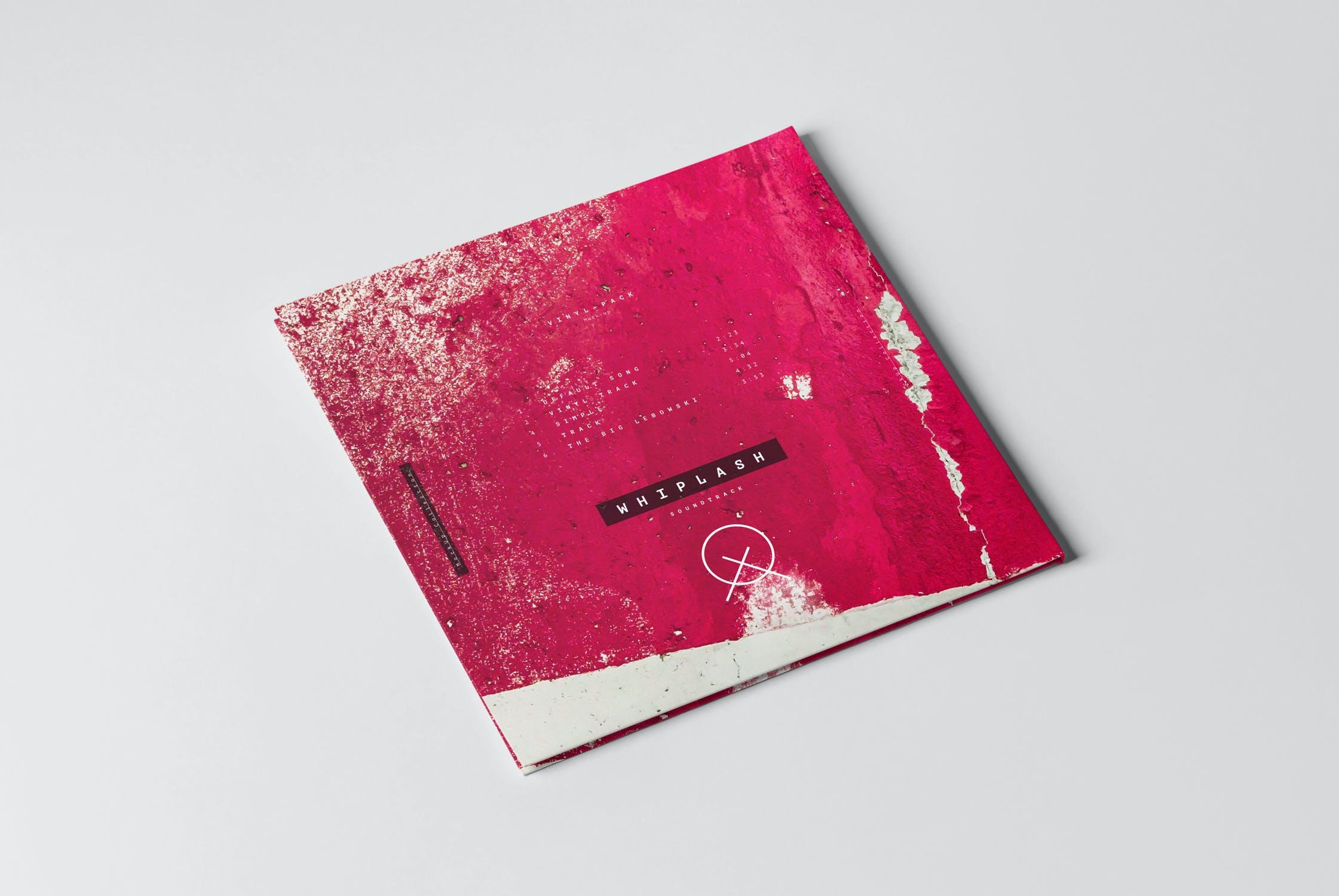 12款逼真黑胶片唱片纸袋设计展示样机 Vinyl Mockup 2插图(2)