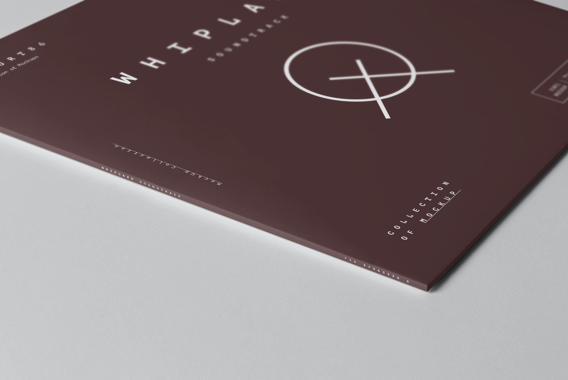 8款黑胶唱片包装纸袋设计展示样机模板 Vinyl Mockup插图(2)