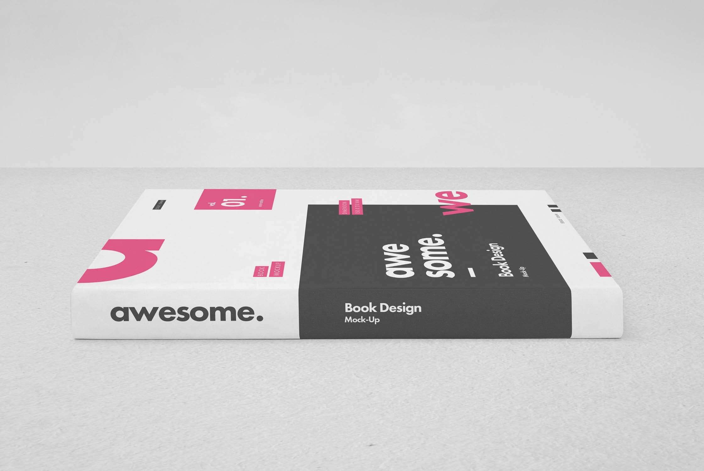 逼真精装书画册设计展示样机PSD模板素材 Book Mockup插图(2)