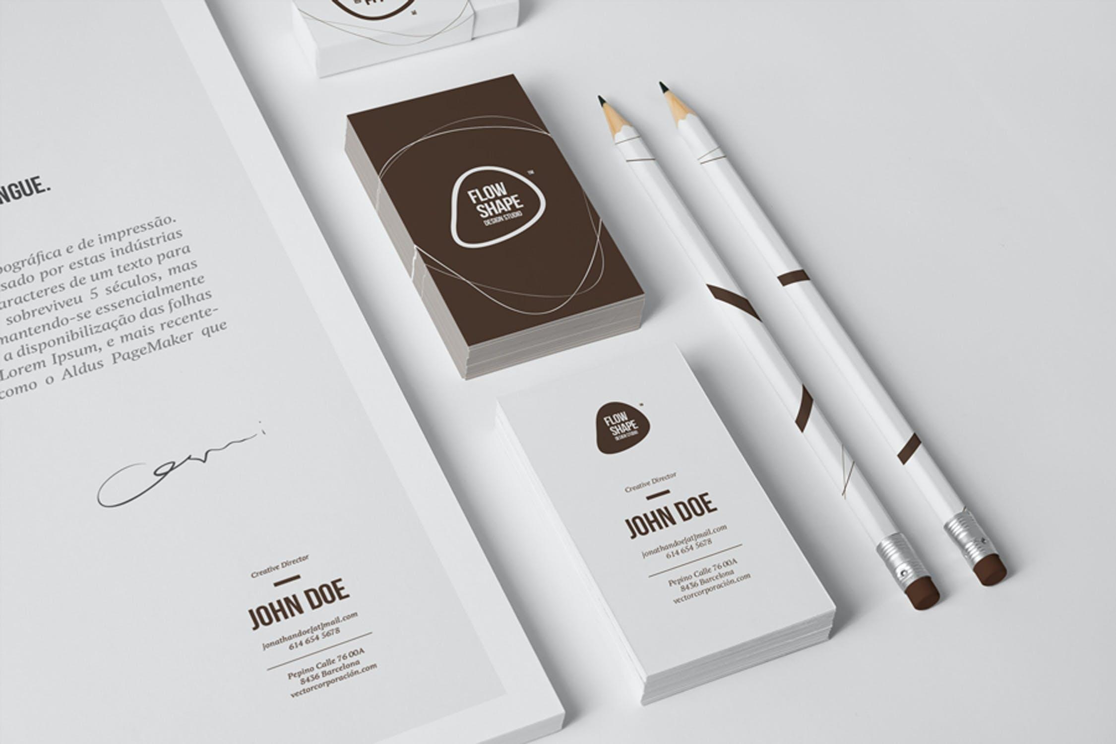 6款多角度品牌VI设计办公用品展示样机模板 Multi-Dimension Branding Dentity Mockup 4插图(2)