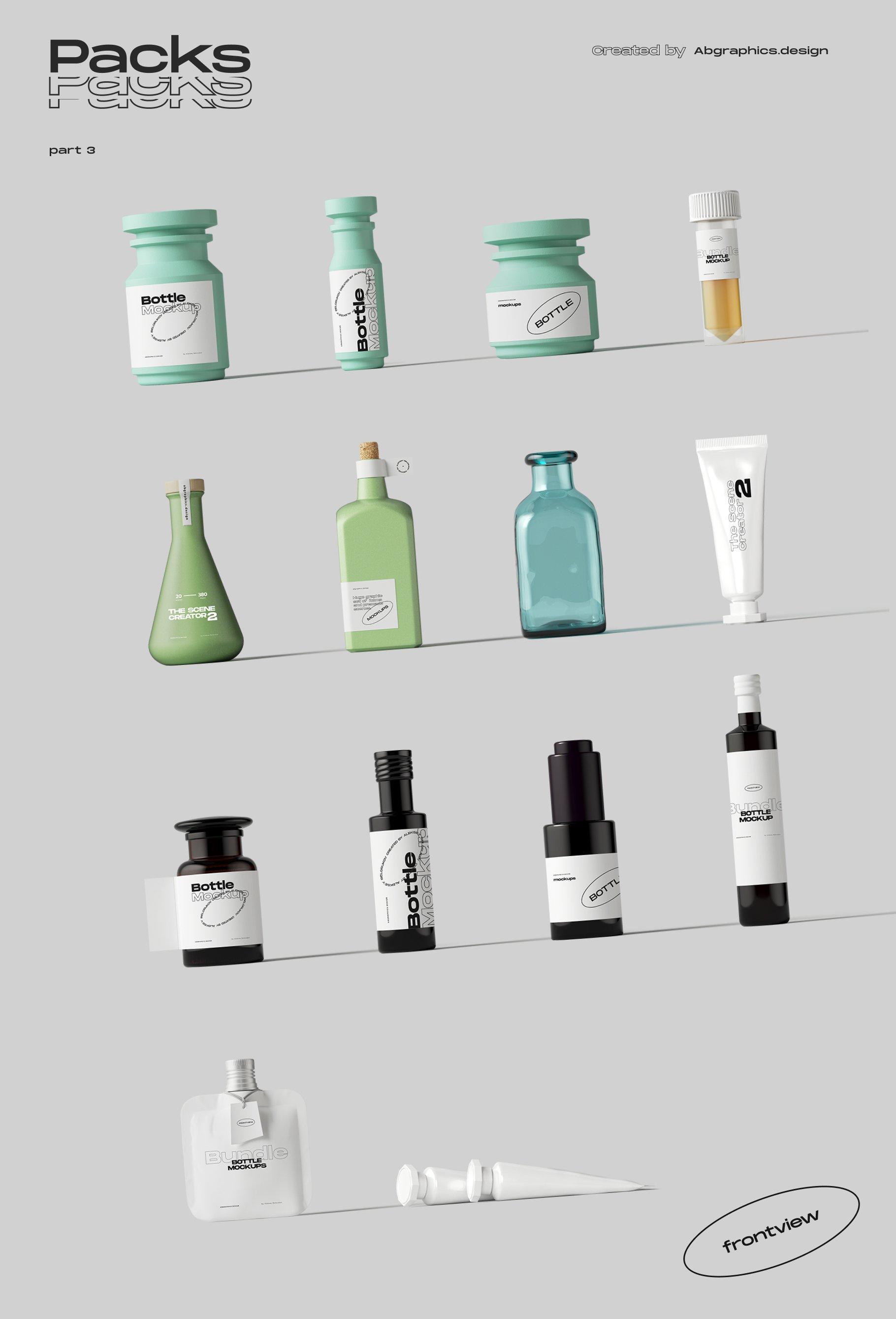 [淘宝购买] 超大品牌VI包装设计PS智能贴图样机模板素材 The Scene Creator 2 / Frontview插图(29)