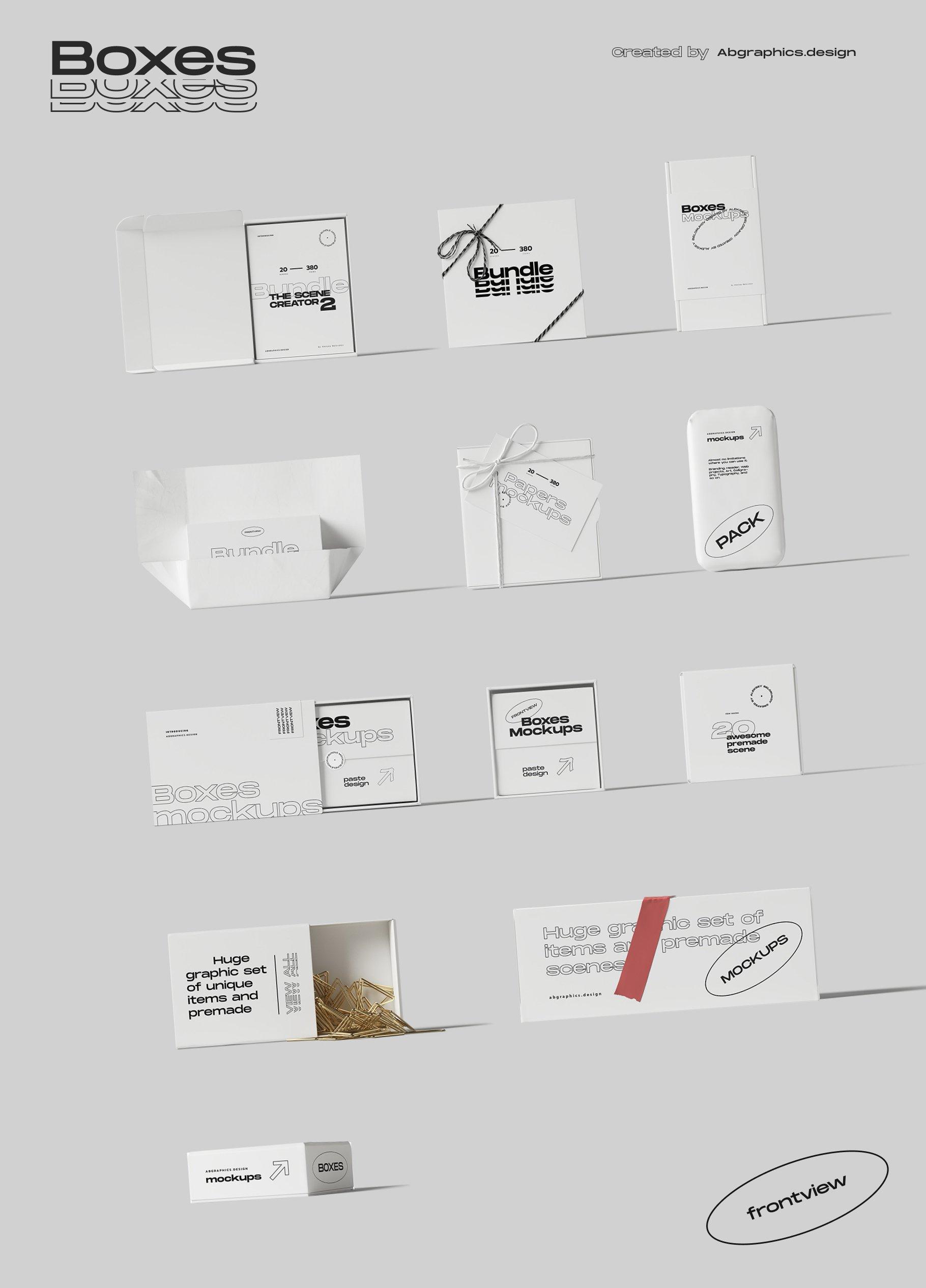 [淘宝购买] 超大品牌VI包装设计PS智能贴图样机模板素材 The Scene Creator 2 / Frontview插图(31)