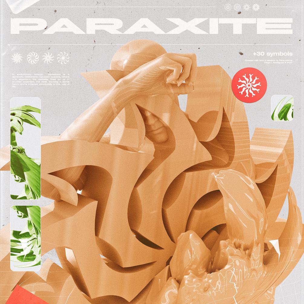 30多种抽象装饰符号图形字体下载 Paraxite Font插图(3)