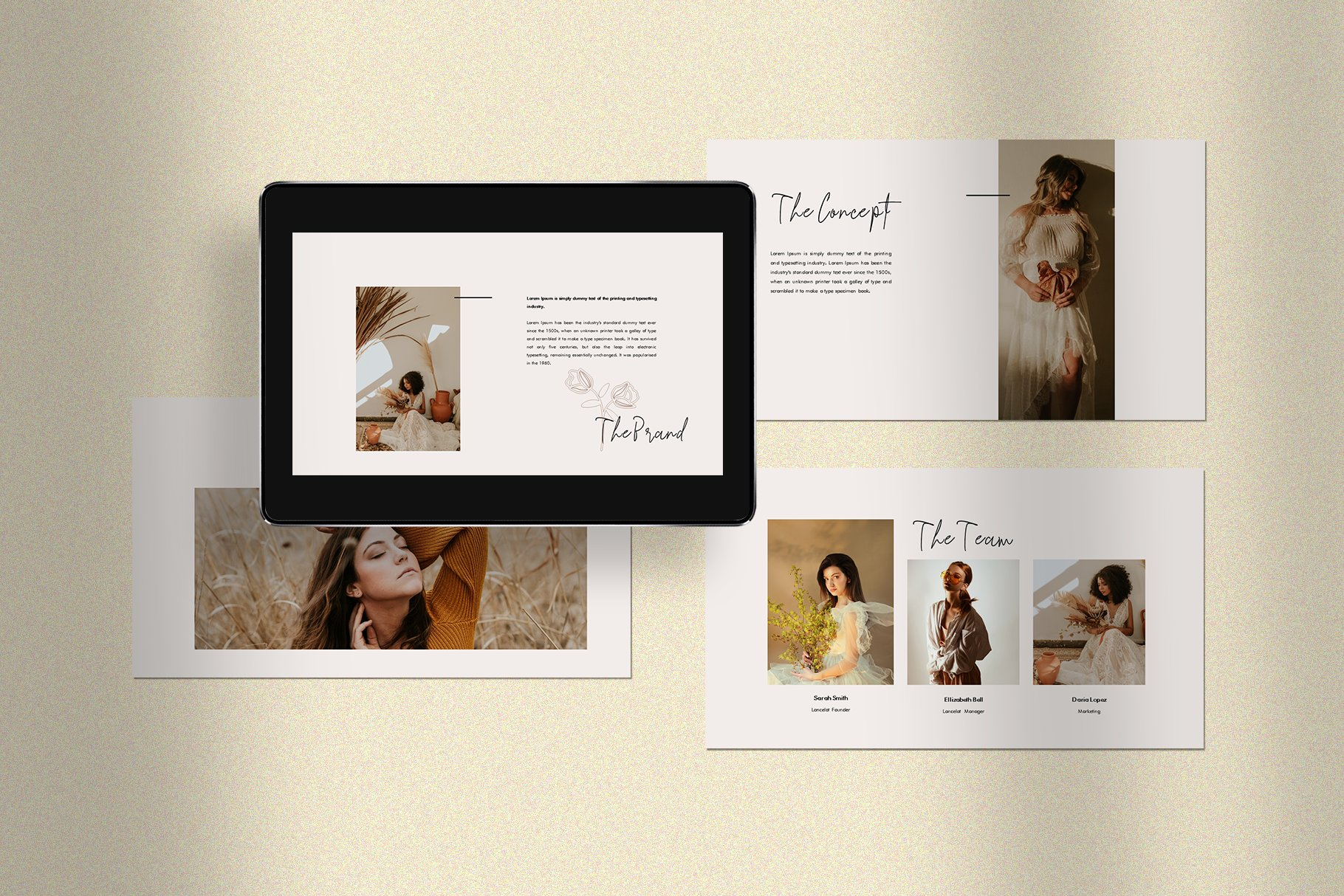 时尚简约女性服装摄影作品集PPT幻灯片模板 Lancelot Presentation Template插图(3)