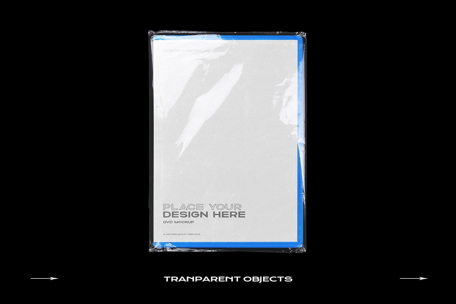 [淘宝购买] 60个DVD光盘包装盒塑料袋塑料膜贴纸样机PS设计素材 DVD Case Mockup Template Bundle Disc插图(4)