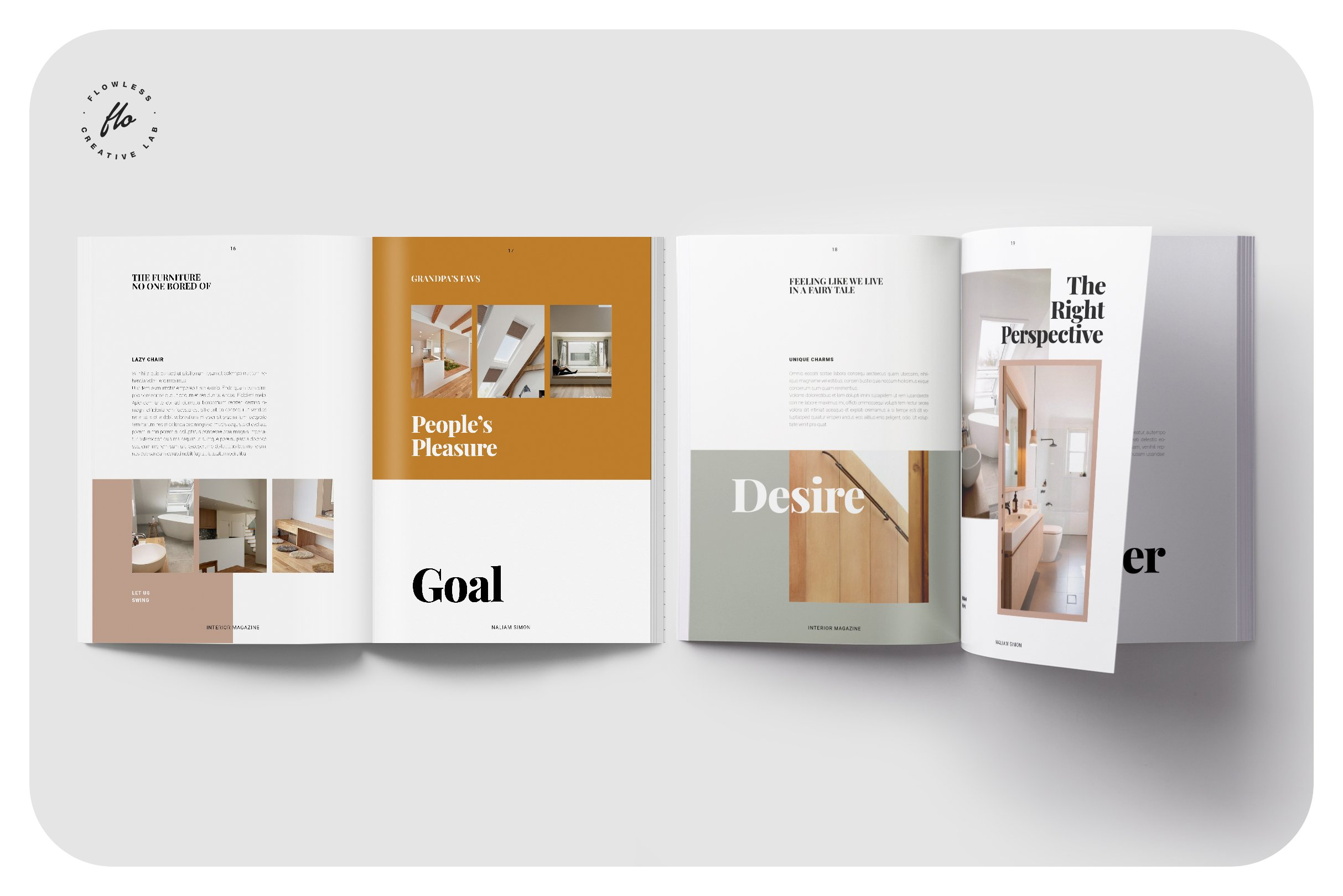 优雅室内设计作品集杂志画册INDD模板 ELEGANCE Interior Magazine插图(3)