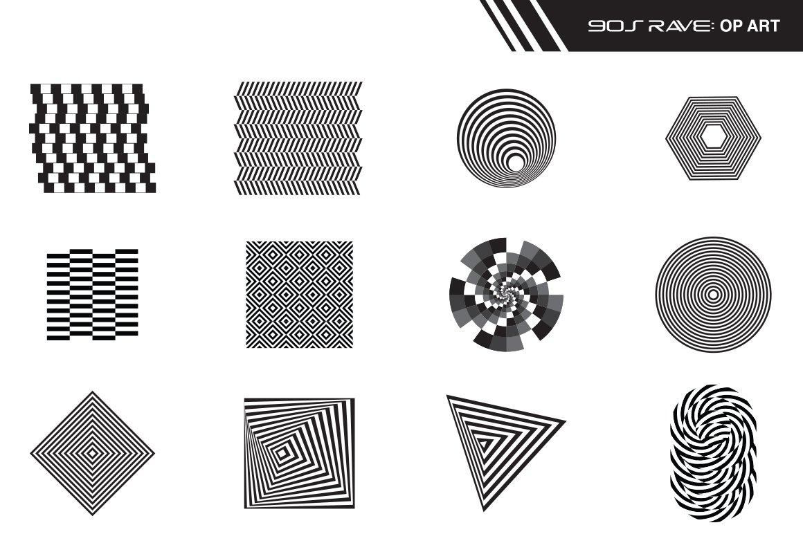 [淘宝购买] 90年代复古派对海报传单人体3D欧普艺术图形设计素材 Old 90s Rave Flyers插图(3)