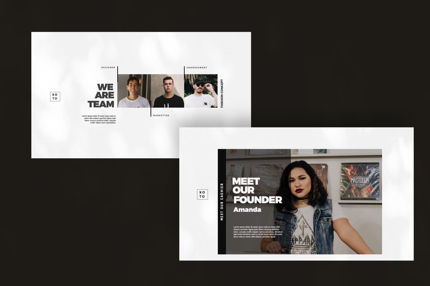 时尚简约服装设计作品集演示文稿模板 Xoto – Fashion Minimal Powerpoint插图(2)