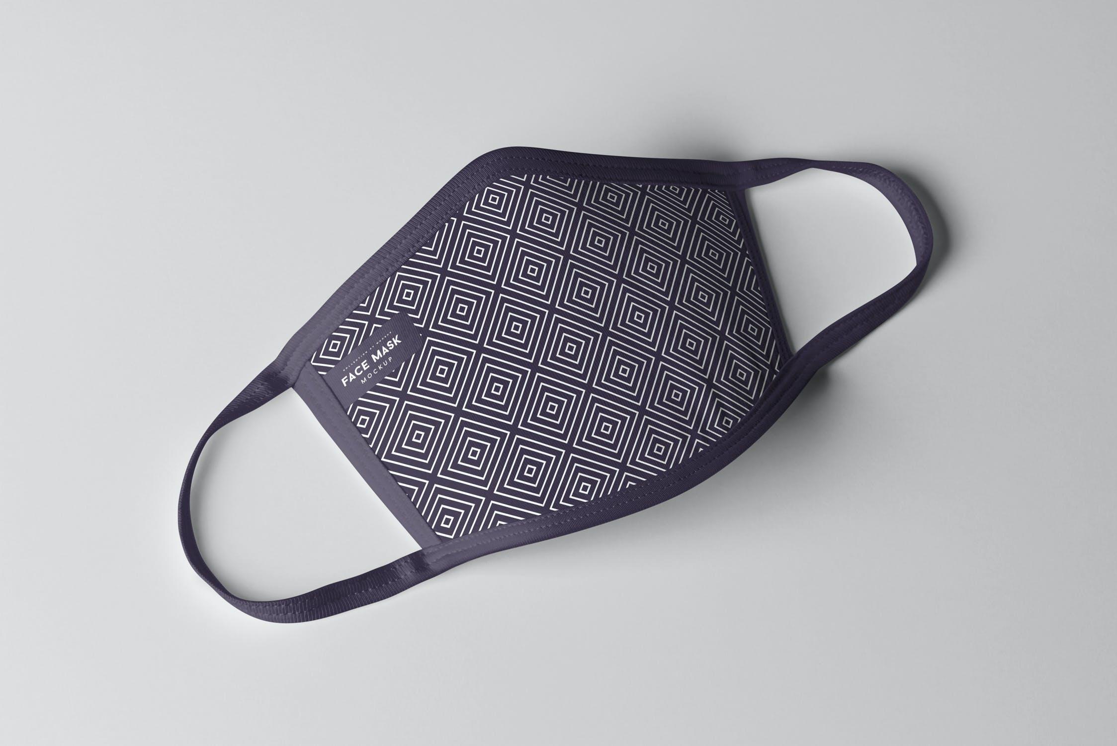 8款防护面罩口罩印花设计展示样机PSD模板 Face Mask Mockup插图(3)