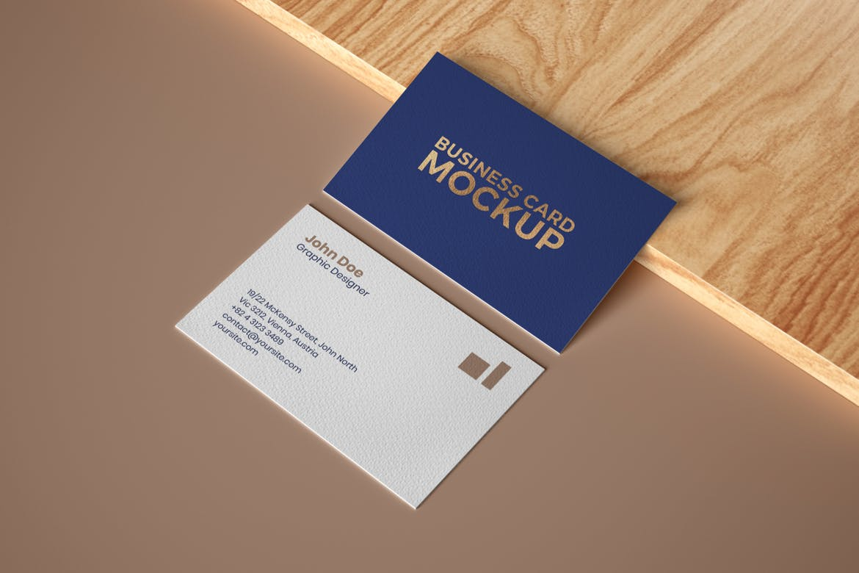 6款商务名片卡片设计展示样机 Elegant Business Card Mockup Set插图(3)