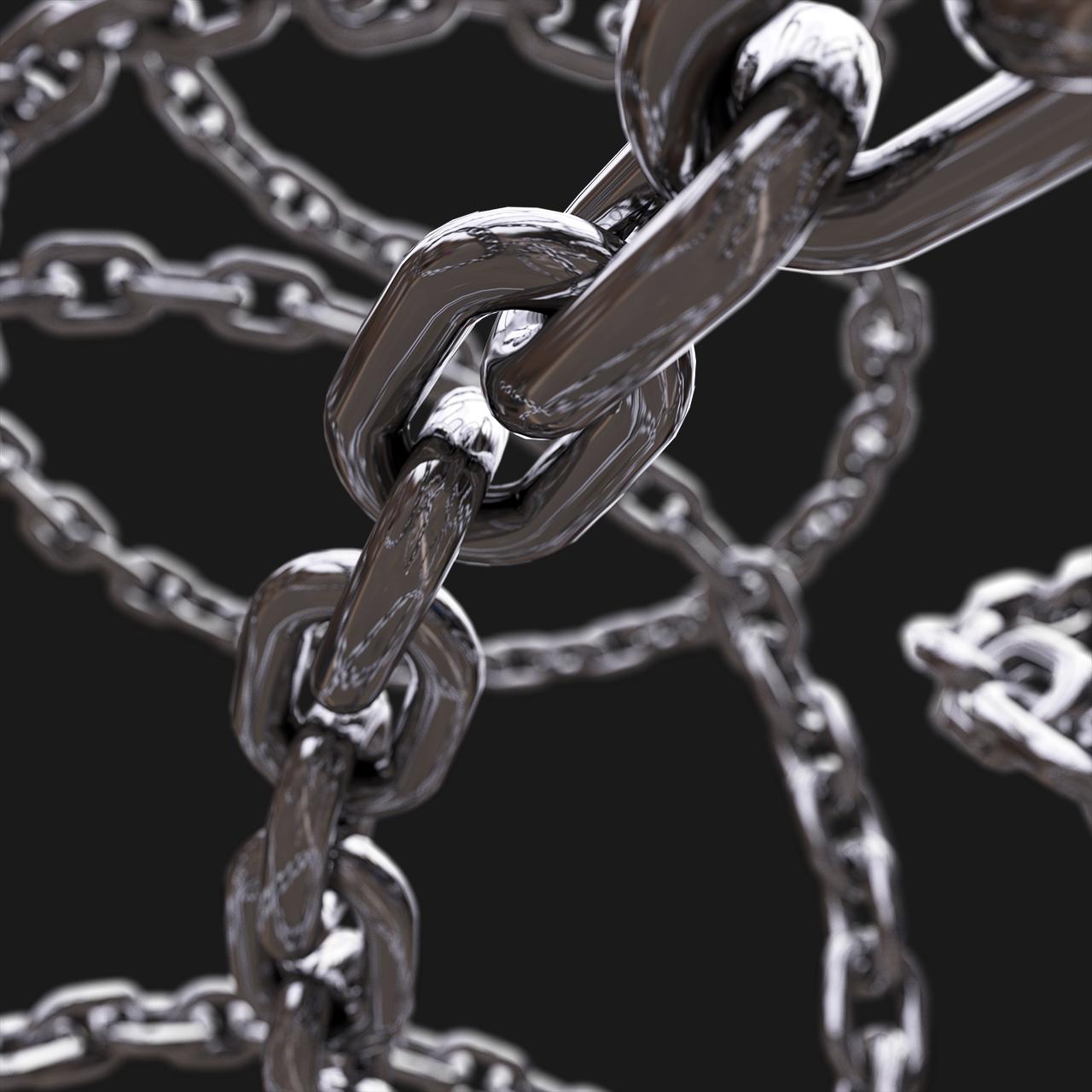 [淘宝购买] 40款高清虹彩镀铬3D渲染铁链PNG免抠图片素材 Dread Renders VOL. 1插图(3)