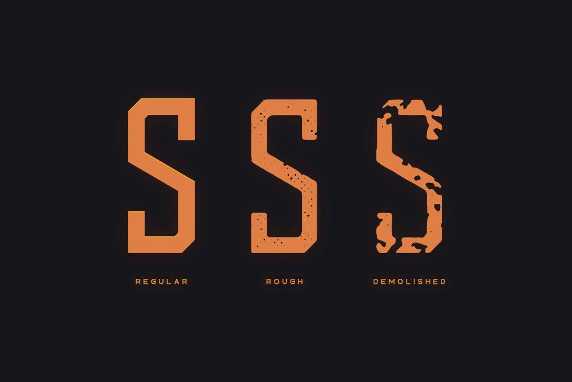 科幻电影标题设计无衬线英文字体下载 Ishimura Typeface Font插图(3)