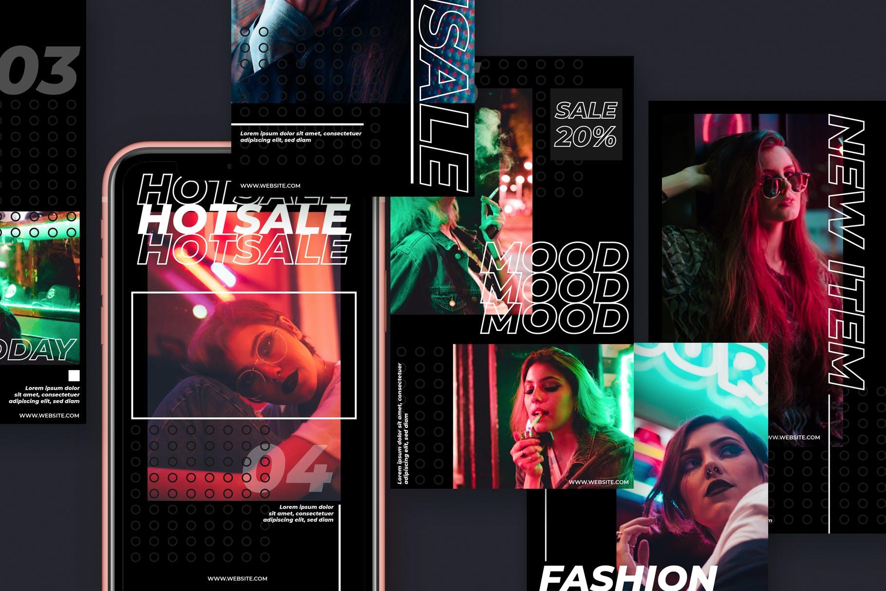 都市风格品牌故事推广新媒体海报设计模板 Urban Style Instagram Story Template插图(3)