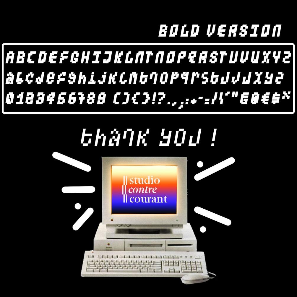 潮流像素点状装饰英文字体设计素材 Pixel Lab Typeface插图(3)