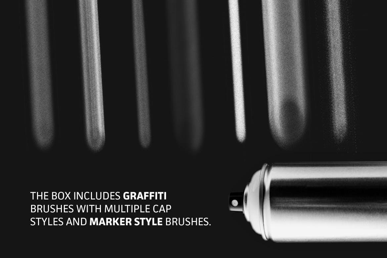 18款涂鸦绘画画笔Procreate笔刷 The Graffiti Box: Procreate Brushes插图(3)