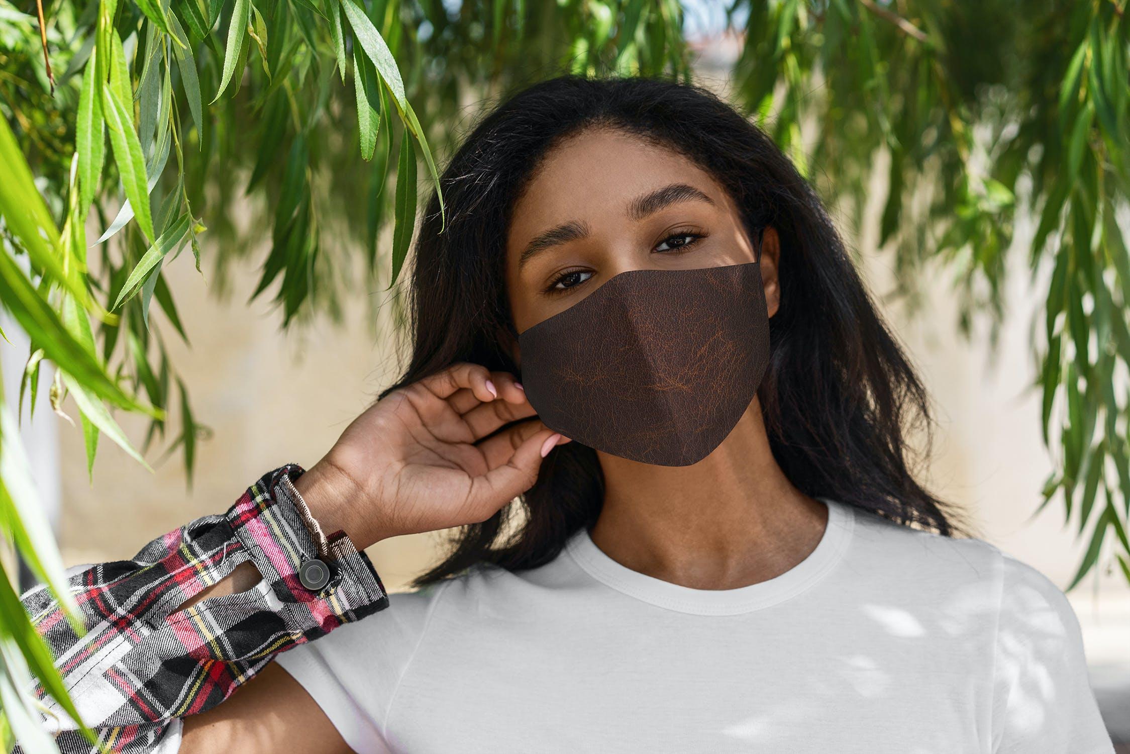 5款防护面罩口罩印花设计展示样机模板 Face Mask Mockup Lifestyle Vol.2插图(3)
