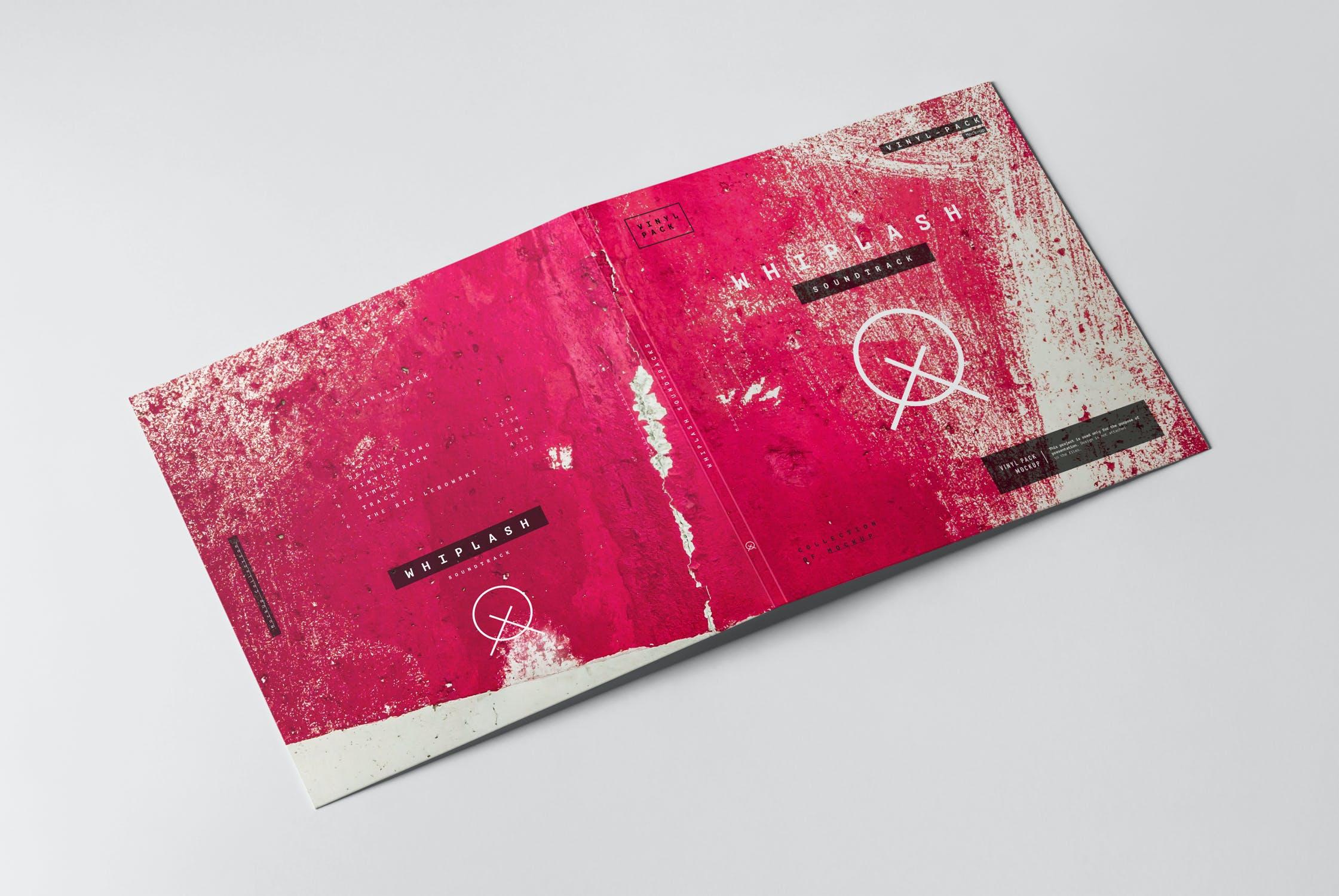 12款逼真黑胶片唱片纸袋设计展示样机 Vinyl Mockup 2插图(3)