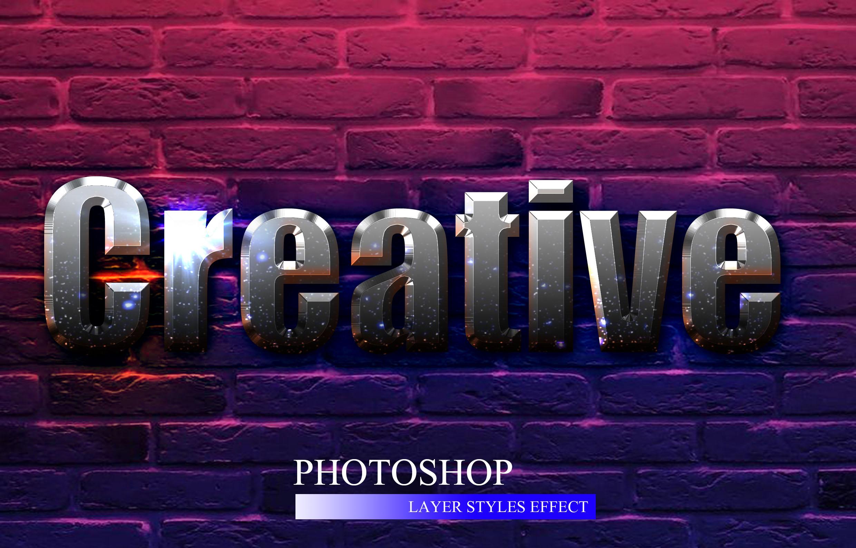 10款金属3D立体效果标题字体设计PS样式模板 10 3D Text Style插图(4)