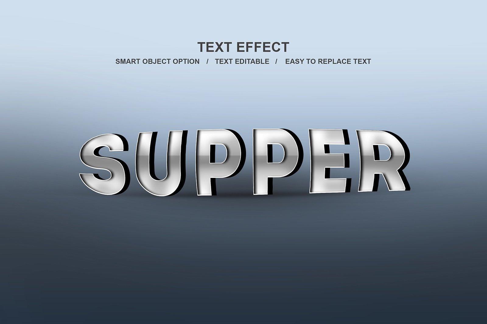 30款故障金属3D立体标题字体设计PS样式模板素材 Photoshop Layer Style Bundle插图(29)