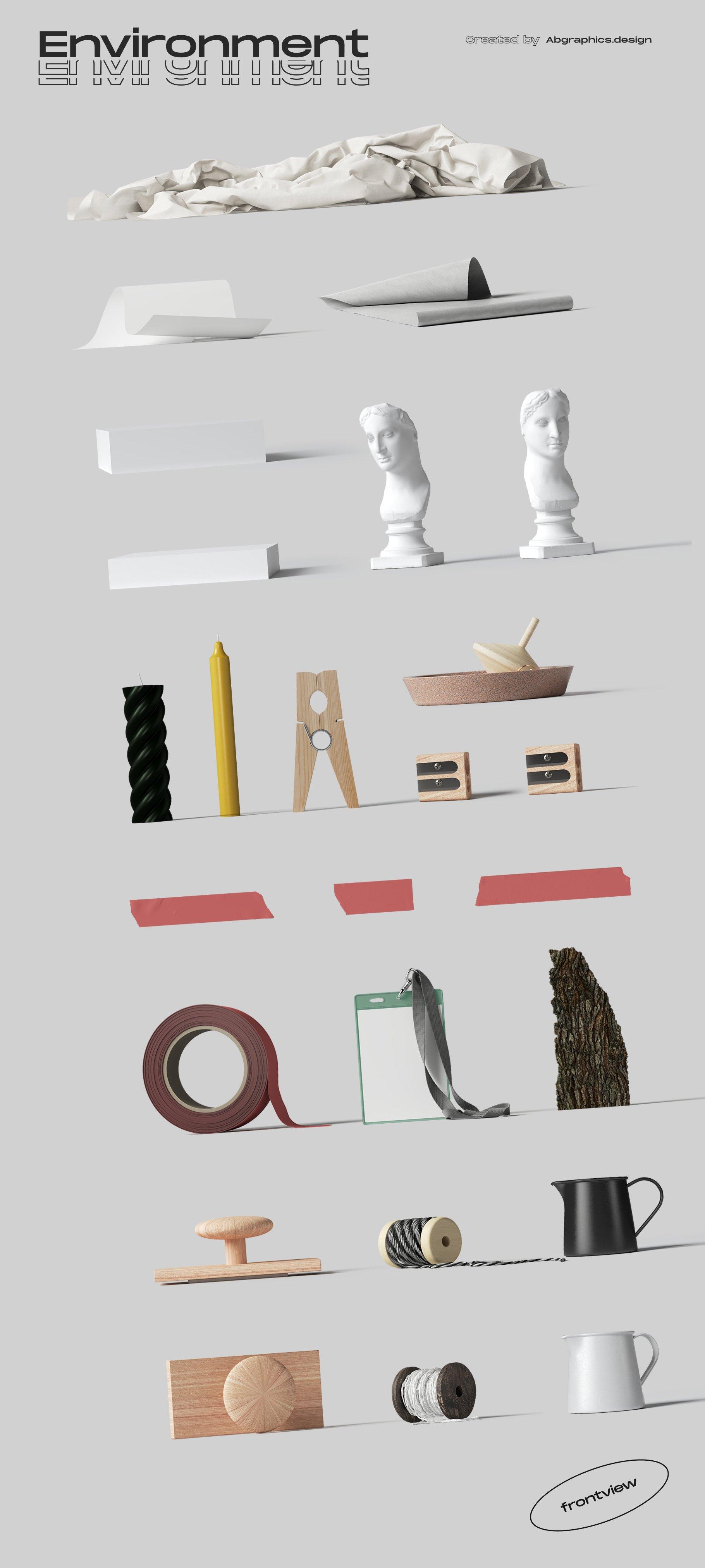 [淘宝购买] 超大品牌VI包装设计PS智能贴图样机模板素材 The Scene Creator 2 / Frontview插图(40)