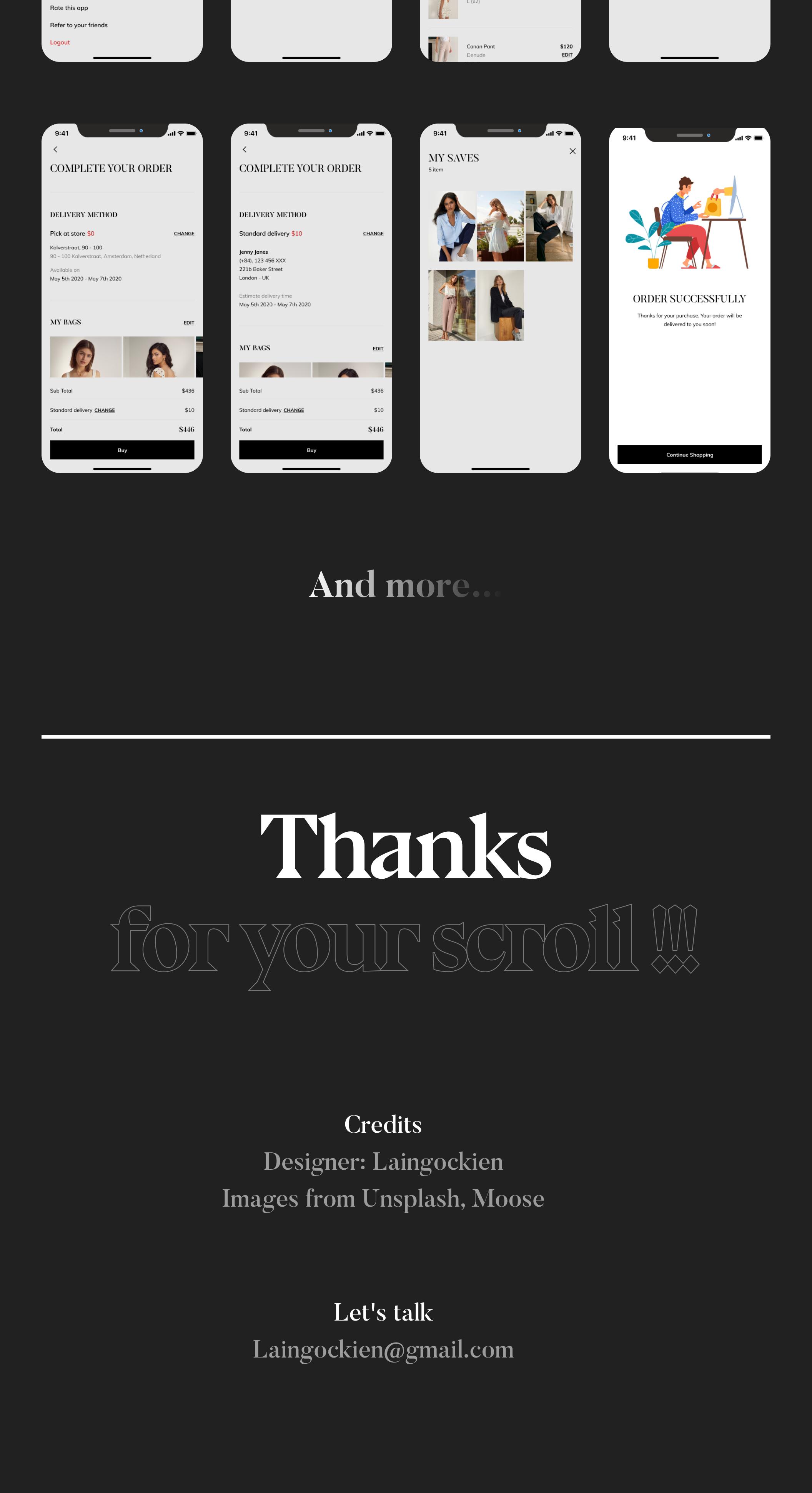时尚服装商城APP应用程序设计UI套件 Dossena – Fashion Mobile Application插图(3)