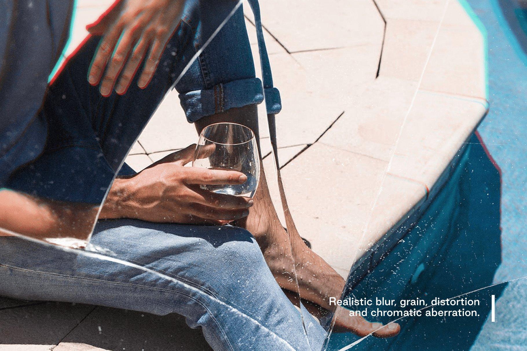 [淘宝购买]模糊破碎破裂变形玻璃叠加层背景PS设计素材 Broken – Cracked Glass Distortions插图(4)