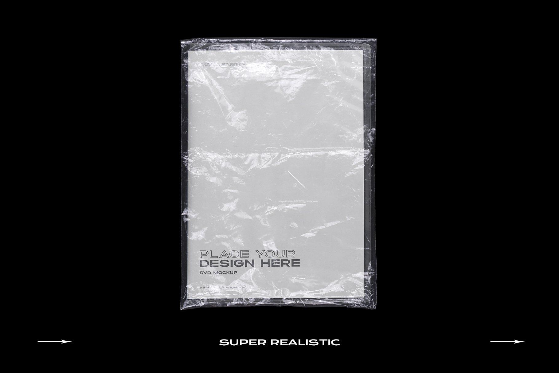 [淘宝购买] 60个DVD光盘包装盒塑料袋塑料膜贴纸样机PS设计素材 DVD Case Mockup Template Bundle Disc插图(5)
