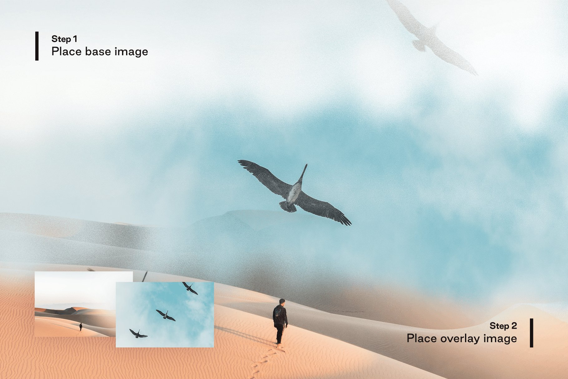 [淘宝购买] 多种曝光融合烟雾混合效果照片处理PS图层样式 Converge – Image Blending插图4
