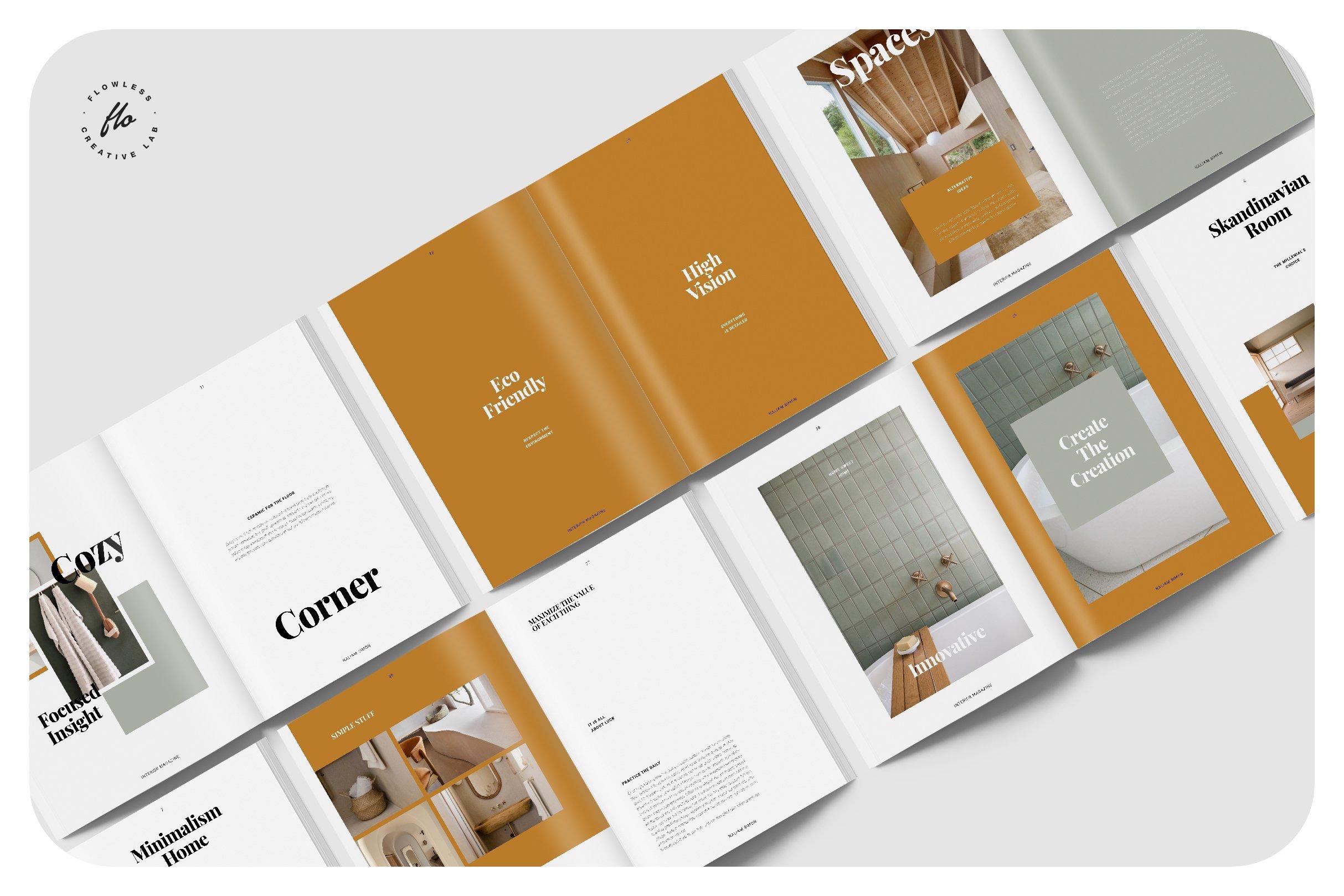 优雅室内设计作品集杂志画册INDD模板 ELEGANCE Interior Magazine插图(4)