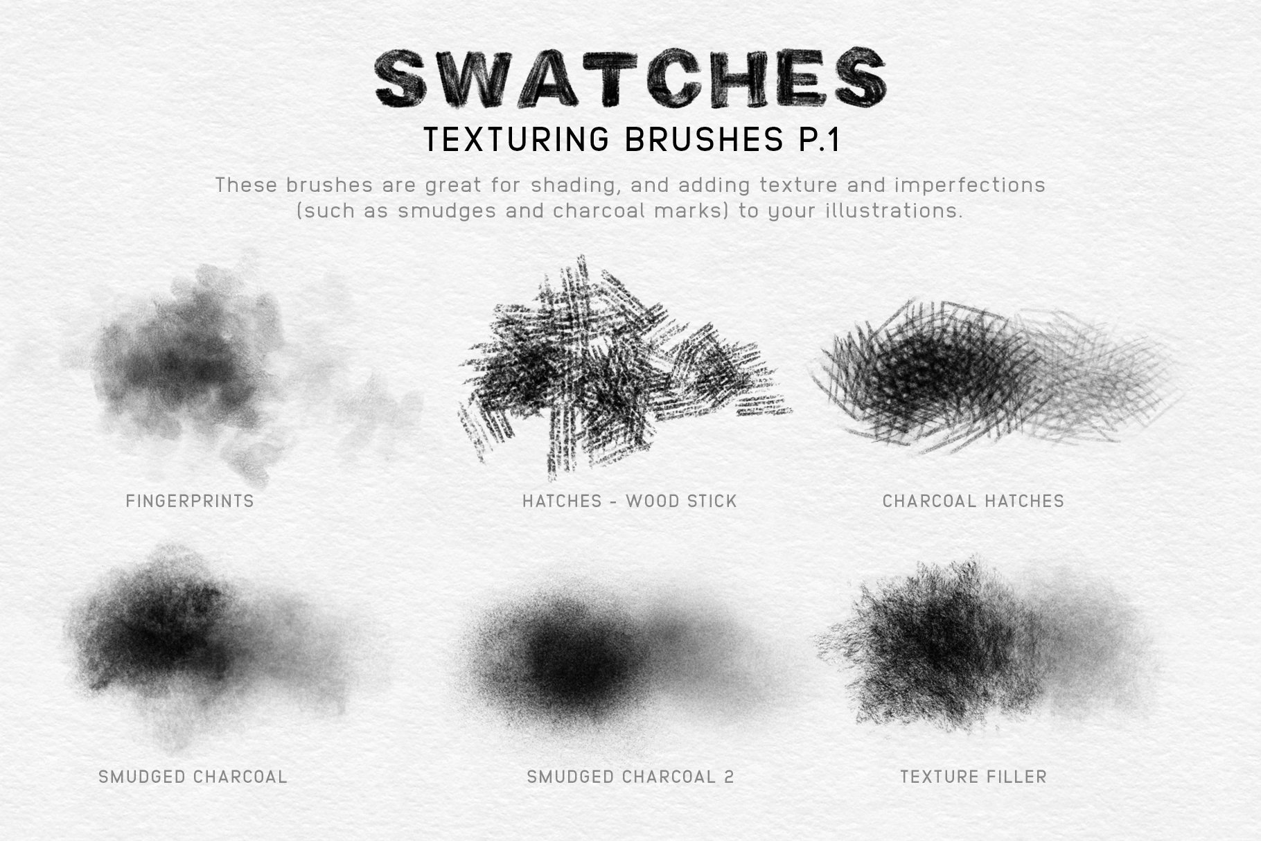 20款木炭铅笔素描绘画画笔Procreate笔刷 Charcoal Procreate Brushes插图(5)