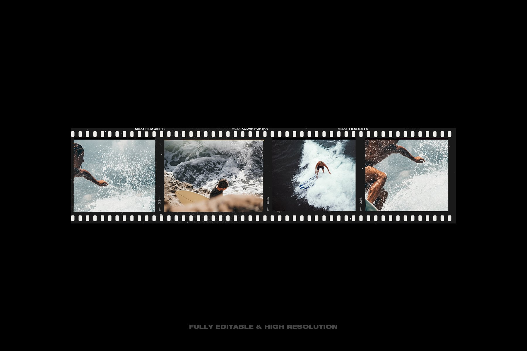 [淘宝购买] 复古做旧相机相片胶卷胶片边框图层叠加样机PS设计素材 High Quality Film Frames Creator插图(10)