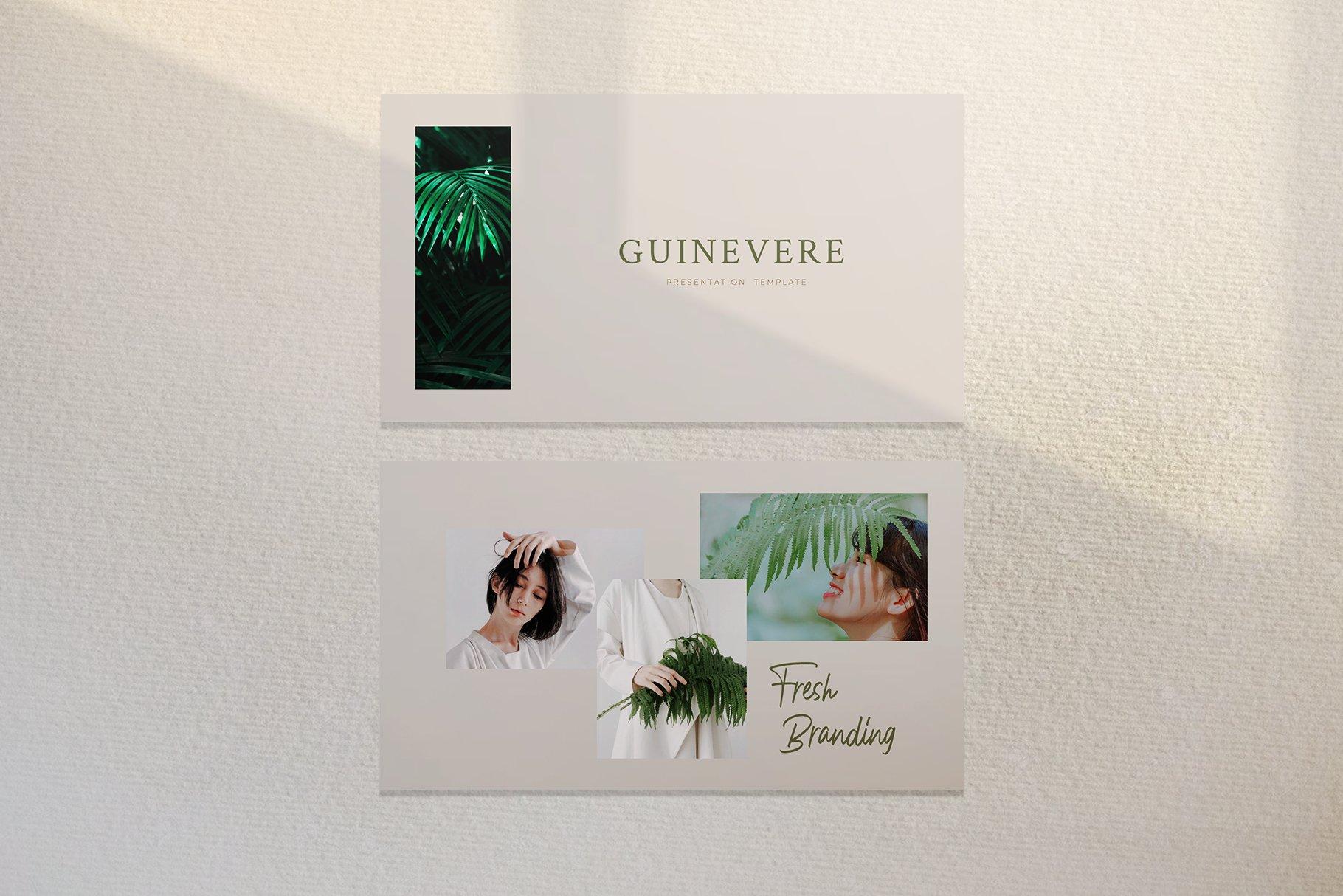 时尚品牌摄影作品集营销PPT幻灯片设计模板 Guinevere Presentation Template插图(7)