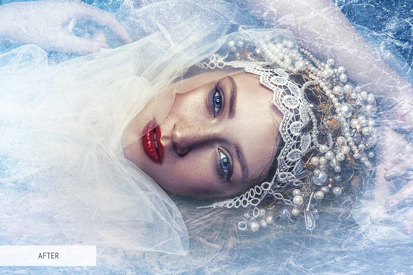 30款高清冬季冰雪PS叠加层背景图片素材 Ice Photoshop Overlays插图(10)