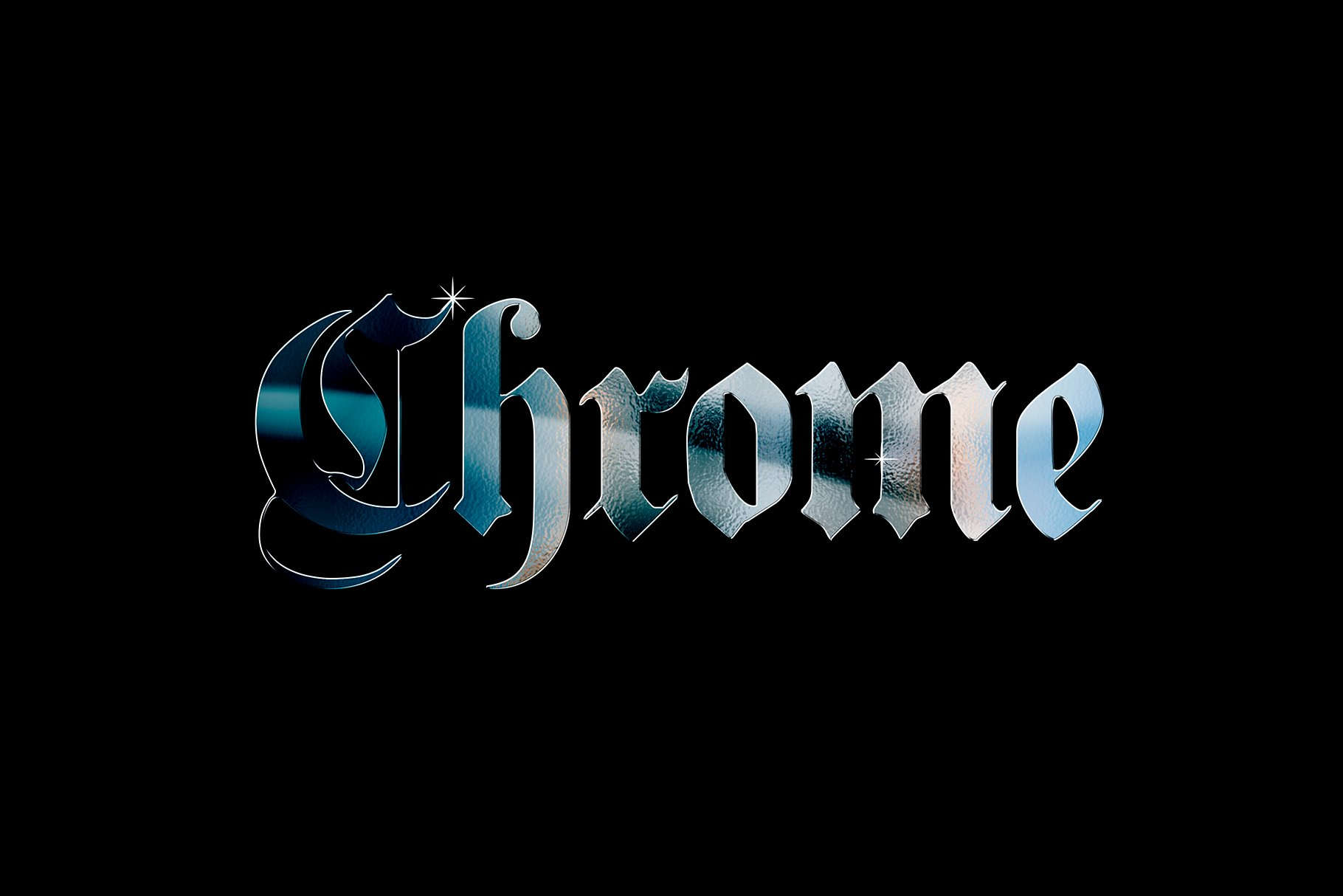 [淘宝购买] 20款金属渐变效果平面广告海报标题字体设计PS样式模板 Chrome Layer Style Pack插图(4)