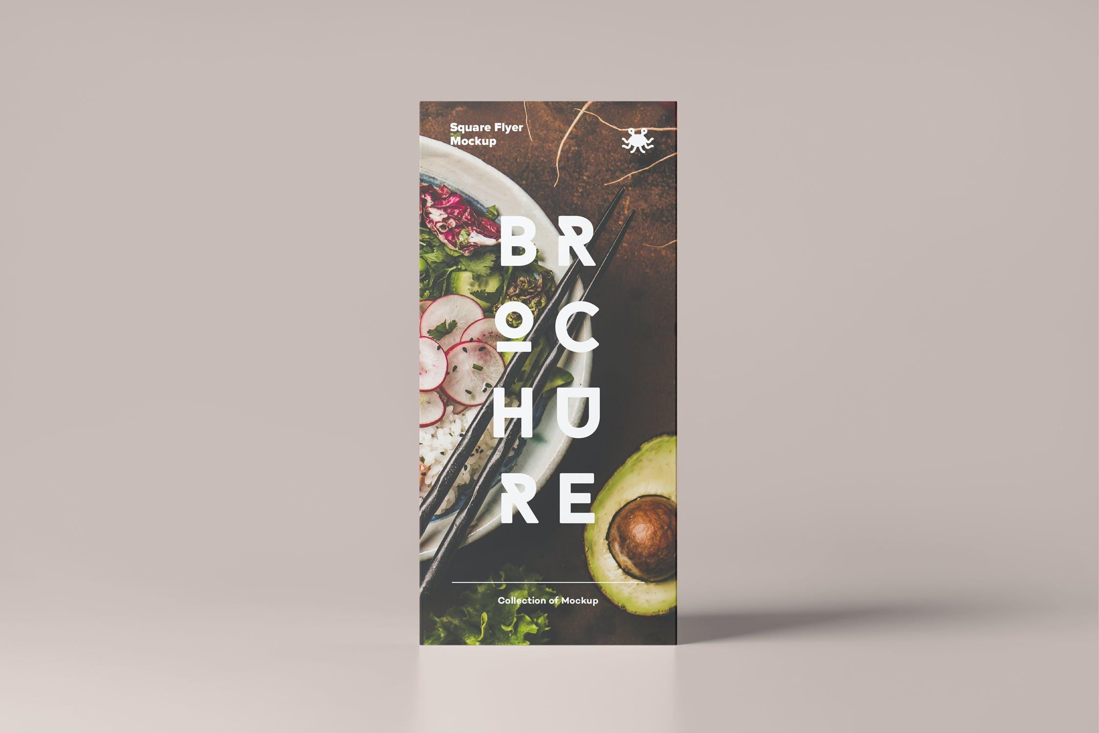 多角度三角形传单海报桌牌设计展示PSD样机模板 Triangle DL Brochure Stand Mockup插图(4)