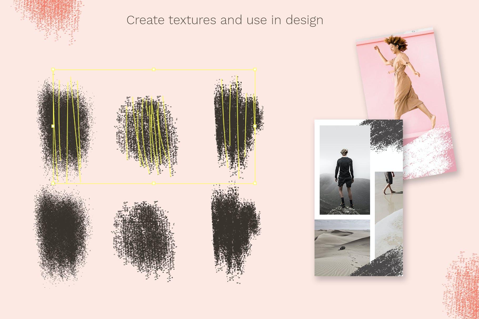 24款斑点颗粒AI矢量笔刷纹理素材 Vector Grain Brushes – Illustrator插图(4)