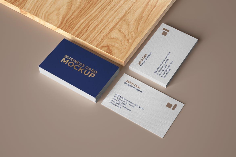 6款商务名片卡片设计展示样机 Elegant Business Card Mockup Set插图(4)