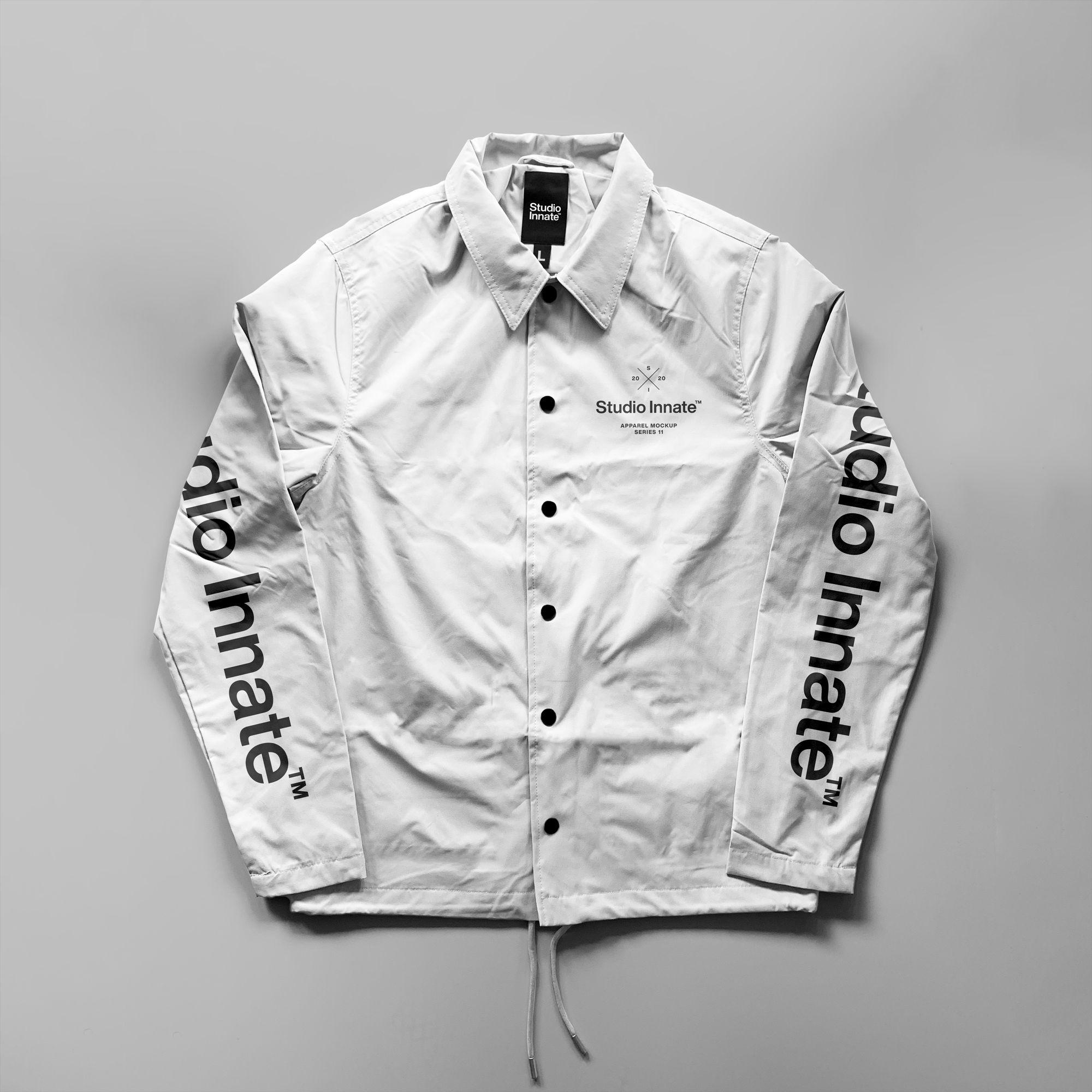 教练长袖夹克衫设计展示样机模板合集 Coach Jacket – Mockup Bundle插图(4)