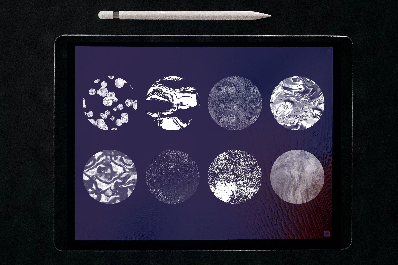 大理石纹理Procreate笔刷 Liquid Marble Texture Brush Bundle Noise插图(4)