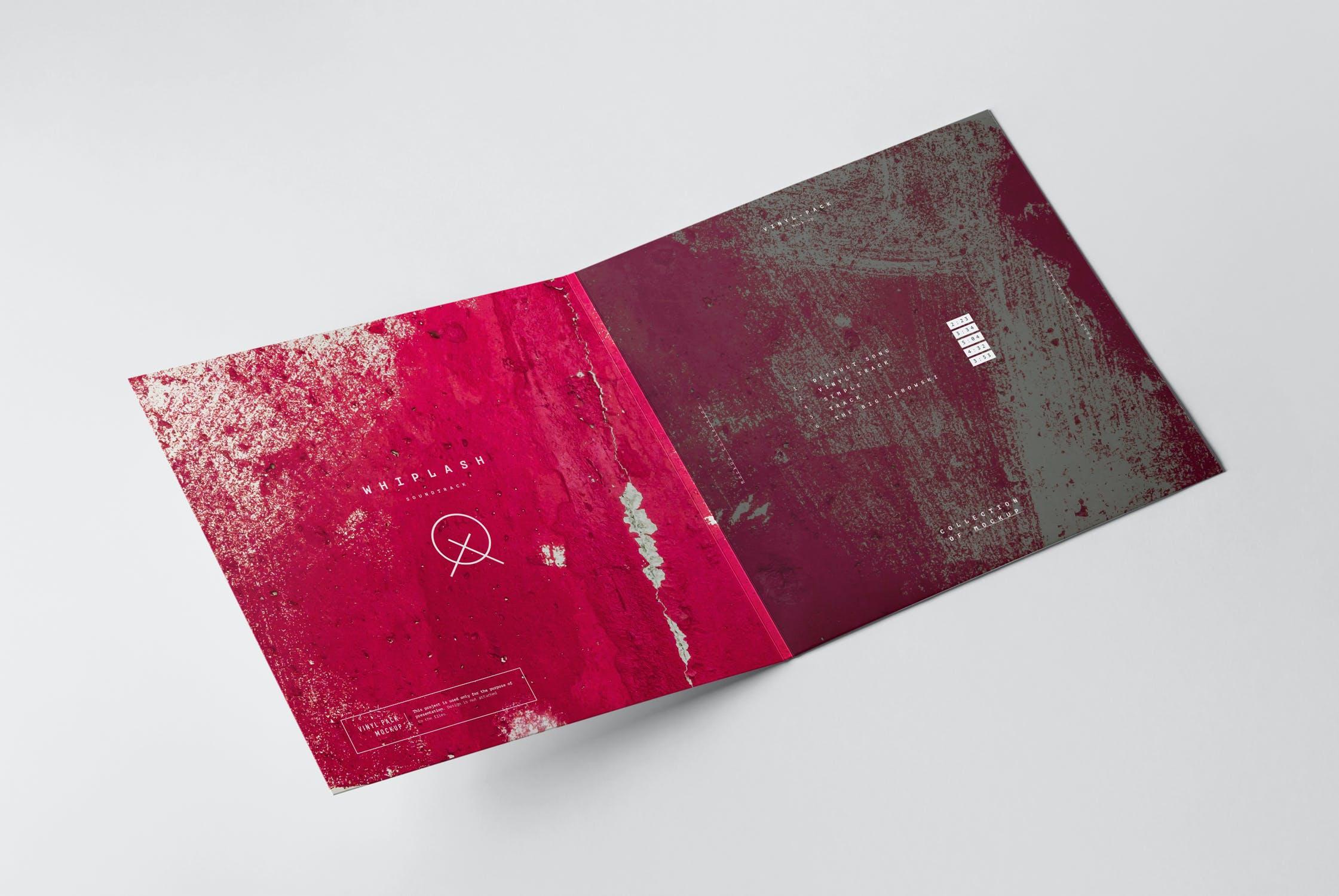 12款逼真黑胶片唱片纸袋设计展示样机 Vinyl Mockup 2插图(4)