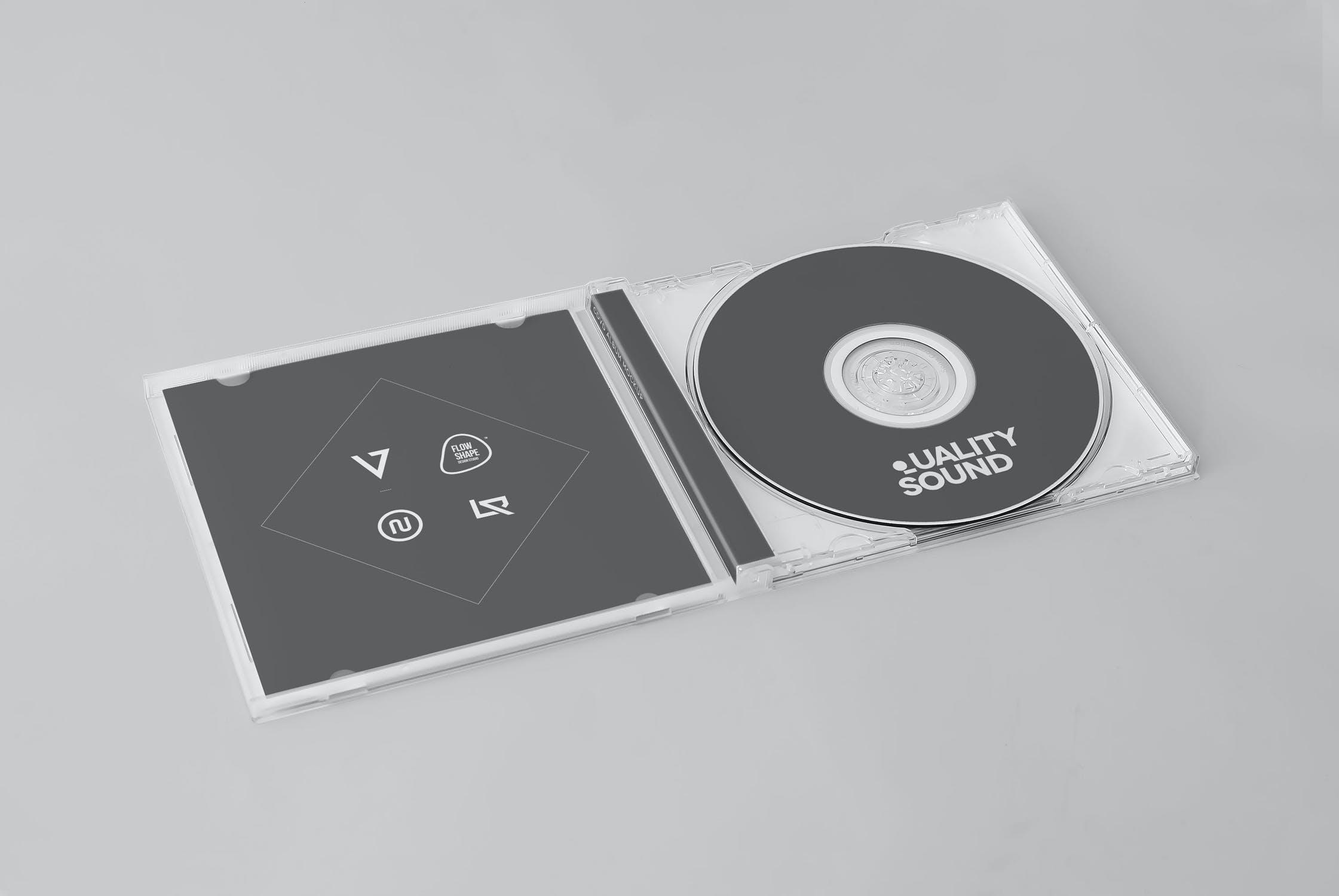 11款逼真CD/DVD包装盒设计展示样机模板 CD/DVD Album Mockup插图(4)