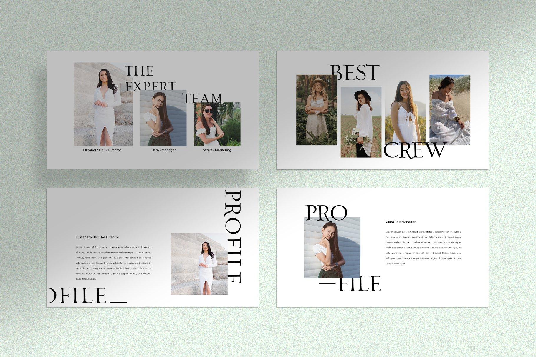 极简创意摄影作品集PPT幻灯片设计模板 Zask – Clean Presentation Template插图(5)