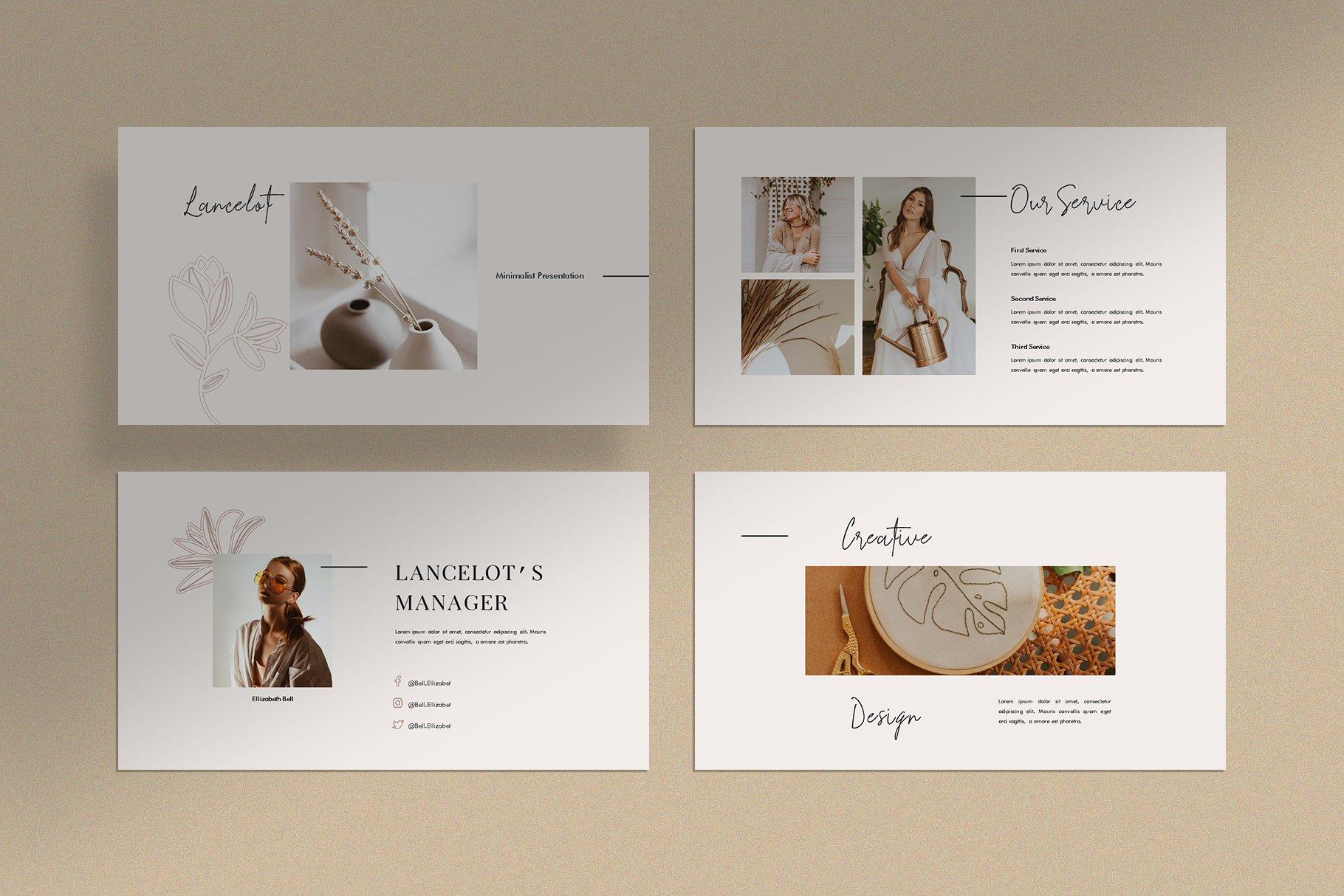 时尚简约女性服装摄影作品集PPT幻灯片模板 Lancelot Presentation Template插图(5)