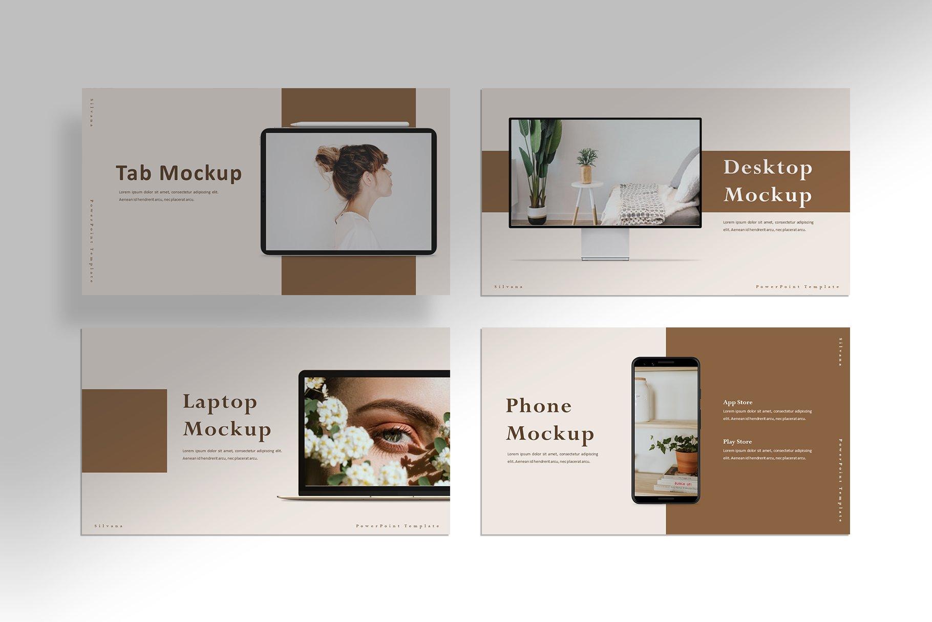 极简女性服装摄影作品集图文排版PPT幻灯片设计模板 Silvana – Presentation Template插图(5)