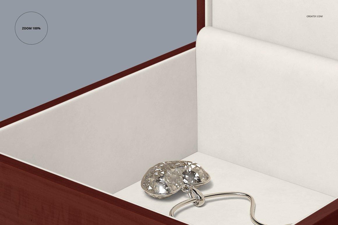 16个木质珠宝盒设计展示样机模板集 Tiled Wood Jewelry Box Mockup Set插图(6)